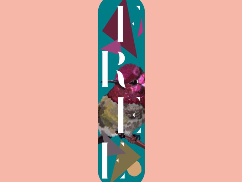 Aïtana Design, Caroline Viollier, graphisme, direction artistique, création graphique, design graphique, branding, Biarritz, Paris, studio de création, skate art, création sur skate board, skate board personalisé, skate board customisé, custom design, planche de skate, planche de skate oiseau, free, planche de skate liberté, faire customiser sa planche de skate, cadeau planche de skate personnalisée