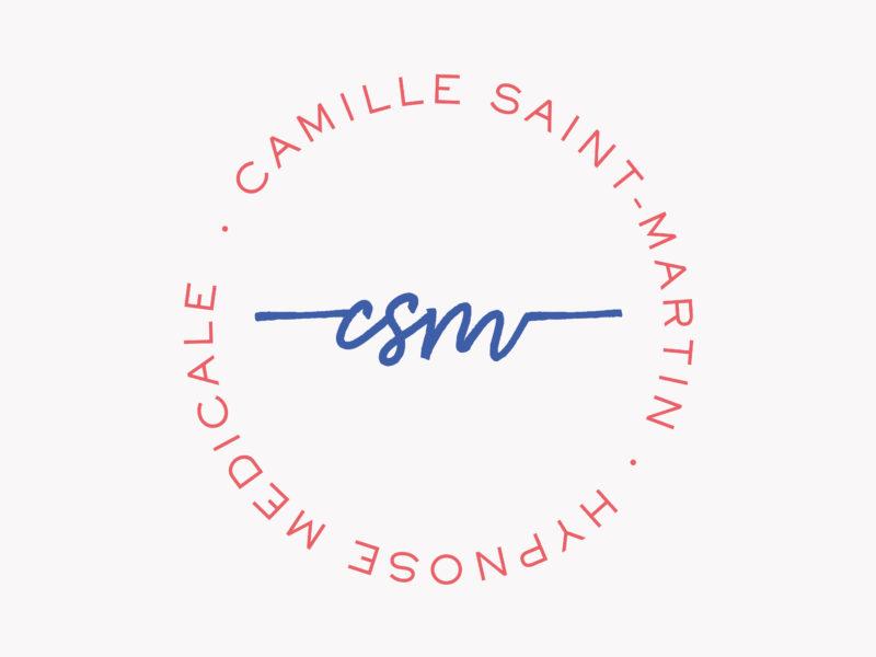 Logo de l'hypnothérapeute Camille Saint-Martin, basée à Anglet, réalisé par Aïtana Design